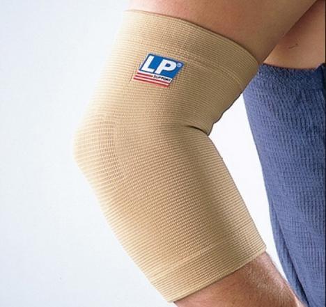 elastische elleboogsteun geeft steun aan de overbelaste elleboog.